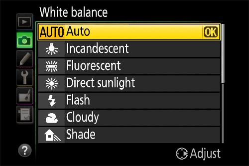 баланс белого Nikon